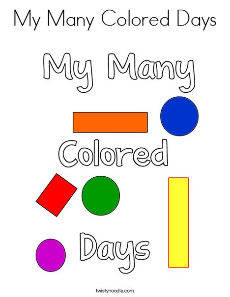 My Many Colored Days! Coloring Page