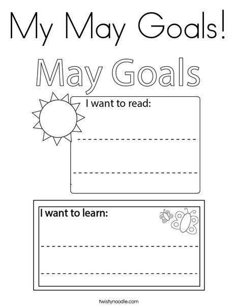 My May Goals! Coloring Page