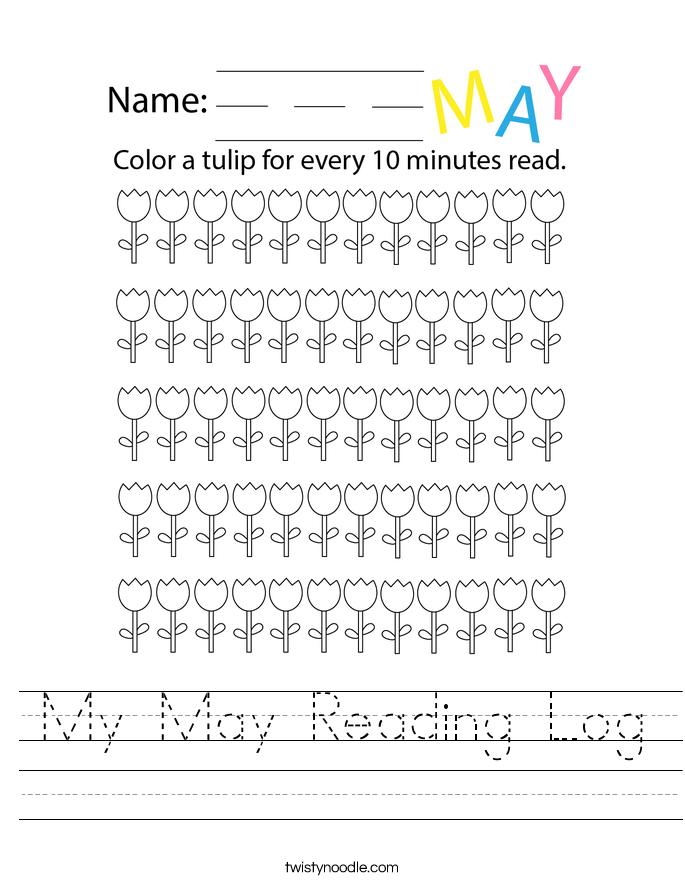 My May Reading Log Worksheet