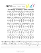 My May Reading Log Handwriting Sheet