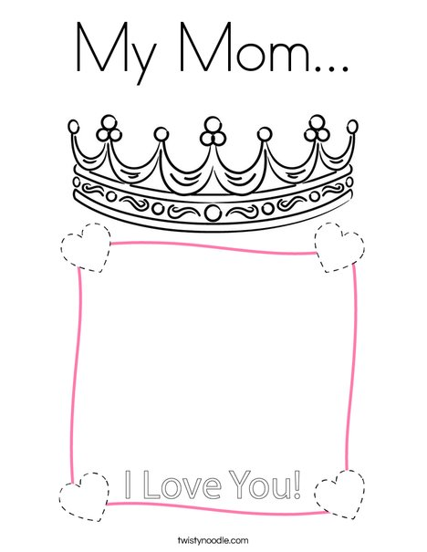 My Mom! Coloring Page