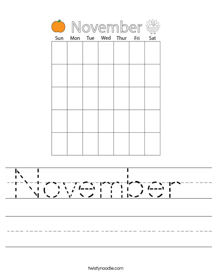 November  Worksheet
