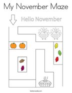 My November Maze Coloring Page