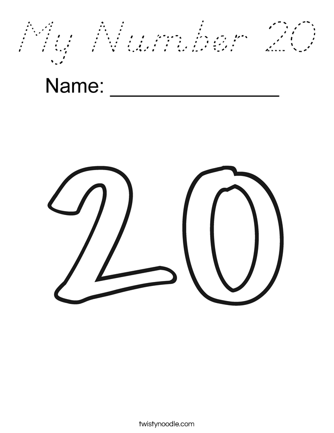 My Number 20 Coloring Page