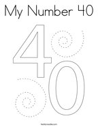 My Number 40 Coloring Page