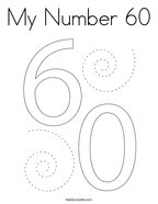 My Number 60 Coloring Page
