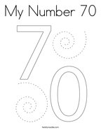 My Number 70 Coloring Page