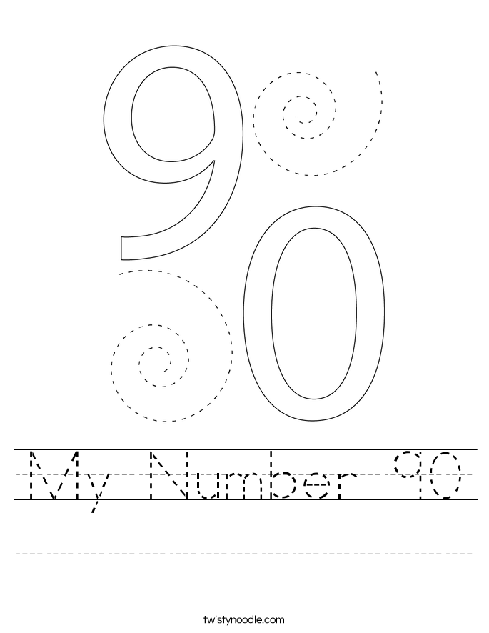 My Number 90 Worksheet