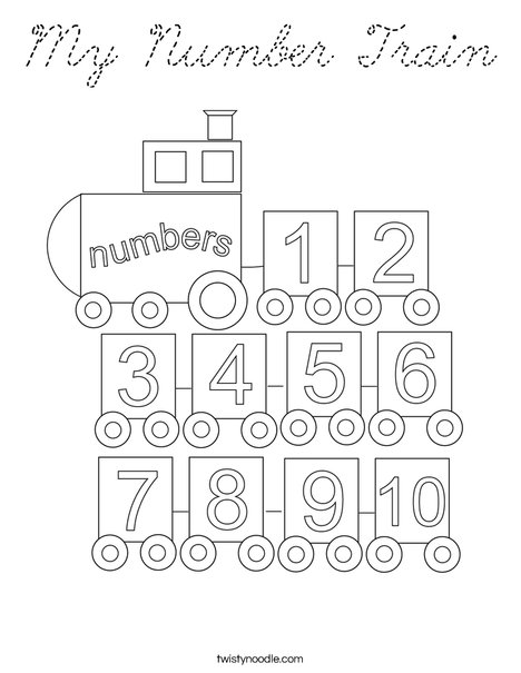 My Number Train Coloring Page