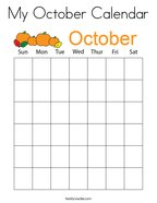 My October Calendar Coloring Page
