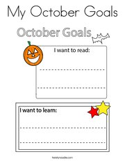 My October Goals Coloring Page