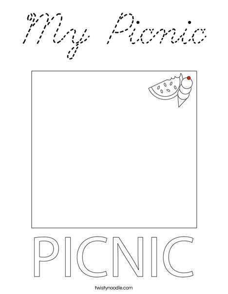 My Picnic Coloring Page