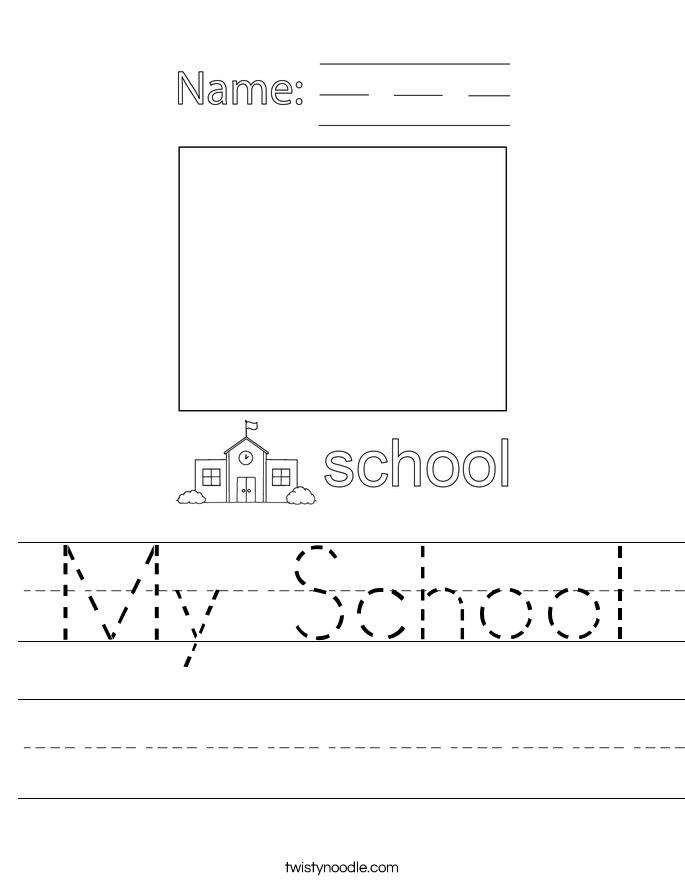 My School Worksheet