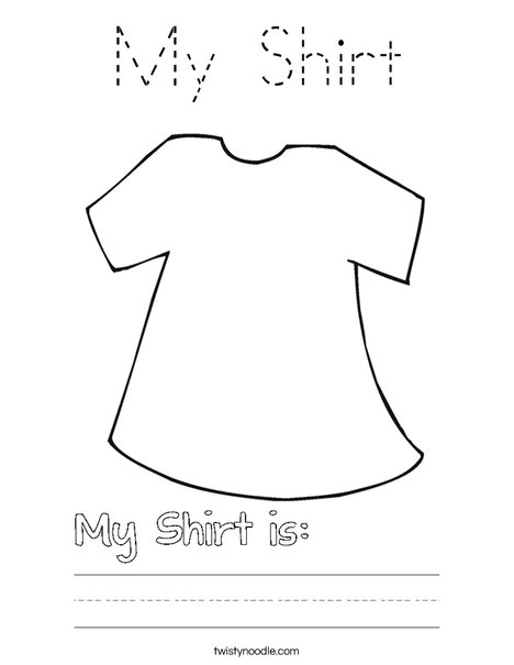 My Shirt Coloring Page