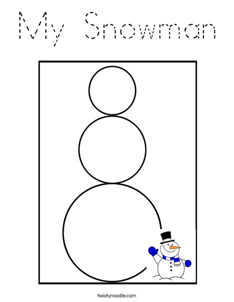 My Snowman Coloring Page