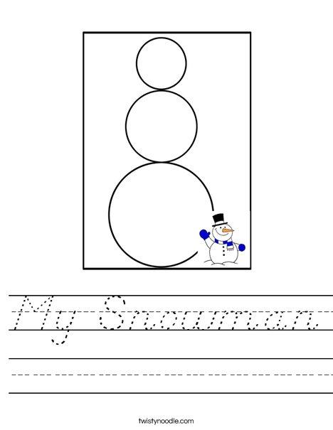 My Snowman Worksheet