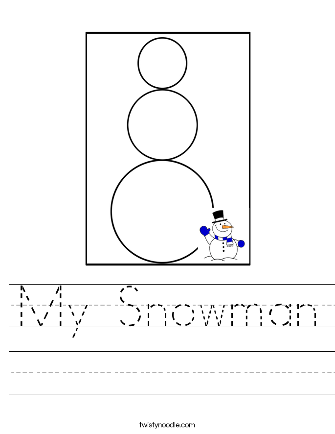 My Snowman Worksheet