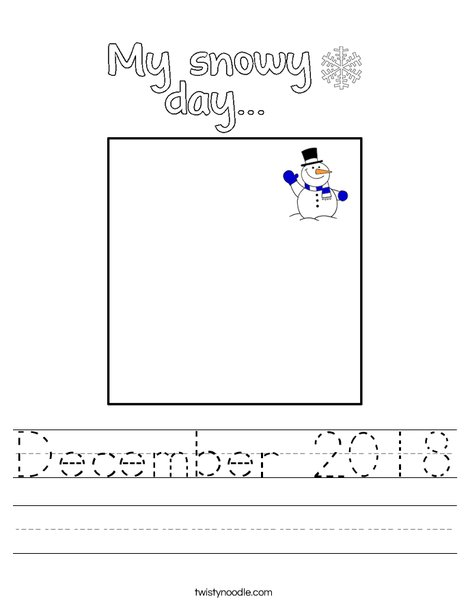 My Snowy Day Worksheet
