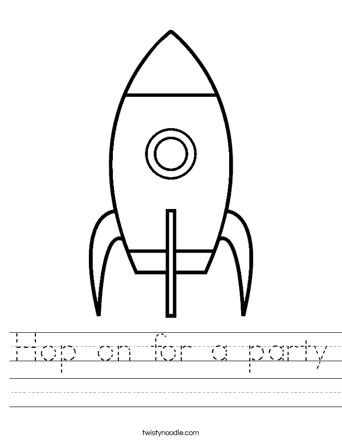 Hop on for a party Worksheet