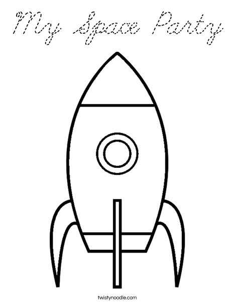 My Space Party Coloring Page