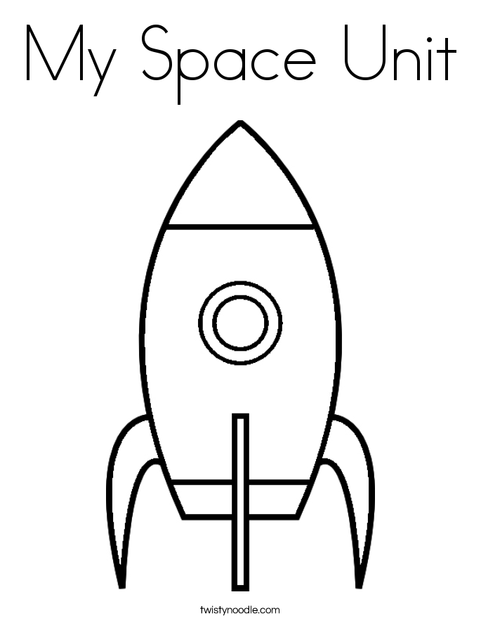My Space Unit Coloring Page