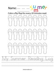 My Summer Reading Log Handwriting Sheet