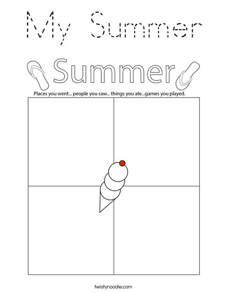 My Summer Coloring Page