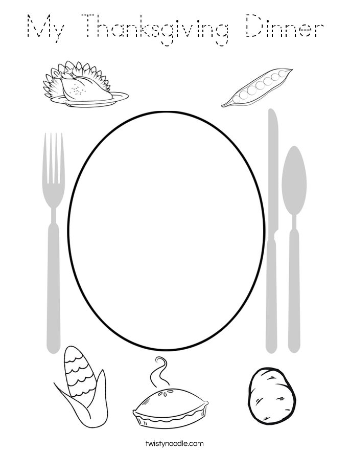 My Thanksgiving Dinner Coloring Page