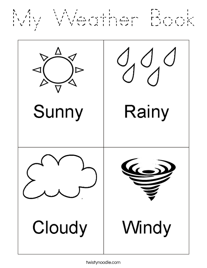 my weather book coloring page tracing twisty noodle. Black Bedroom Furniture Sets. Home Design Ideas