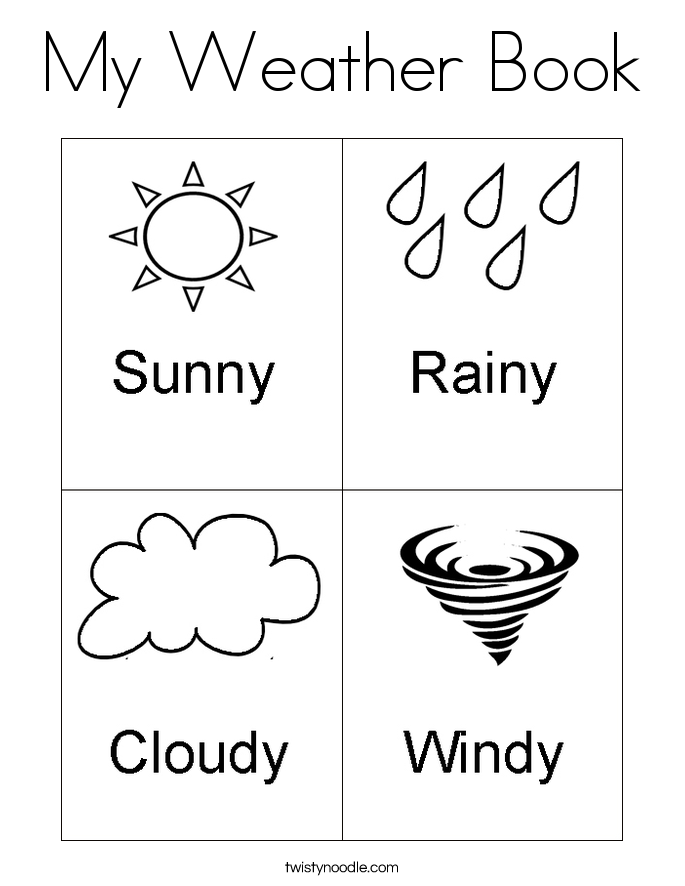 my weather book coloring page - Book Coloring Page
