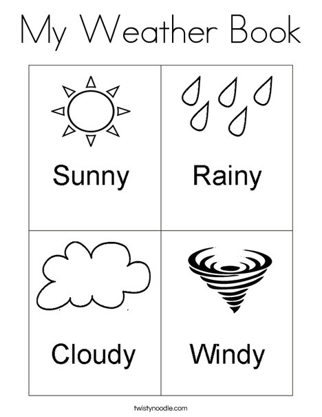 My Weather Book Coloring Page - Twisty Noodle