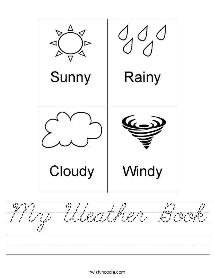 My Weather Book Worksheet