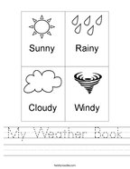 My Weather Book Handwriting Sheet