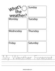 My Weather Forecast Handwriting Sheet