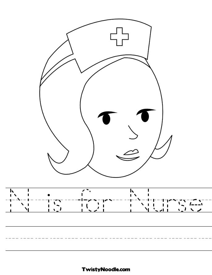 Letter N Coloring Book  Free Printable Pages
