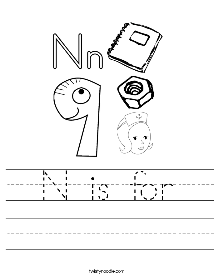 N is for Worksheet