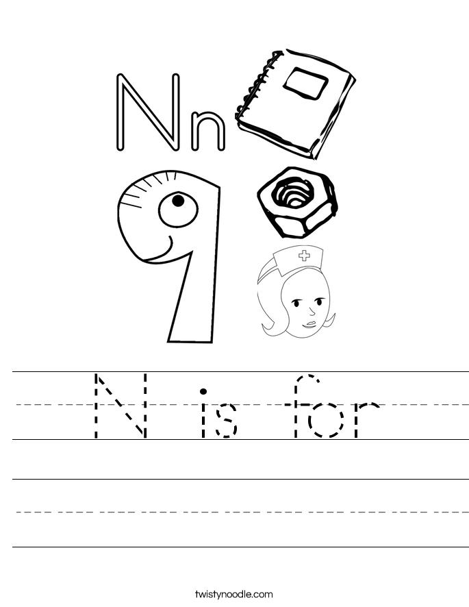 N is for Worksheet