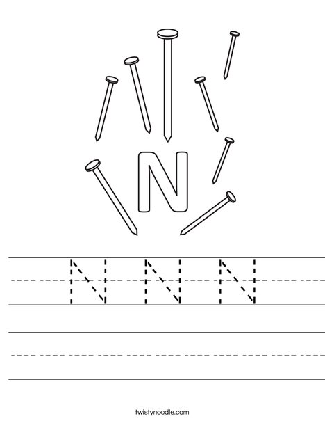 N Nail Worksheet