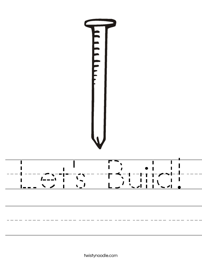 Let's Build! Worksheet