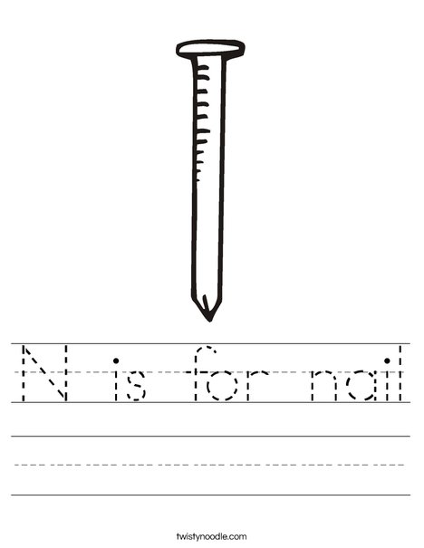 Nail Worksheet