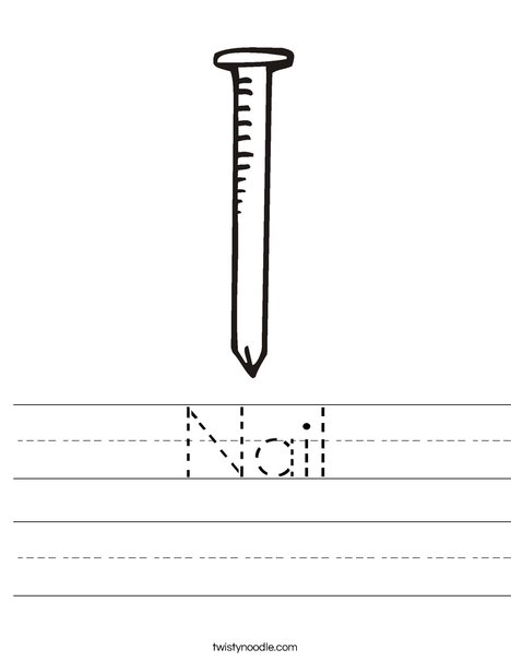 Nail Worksheet