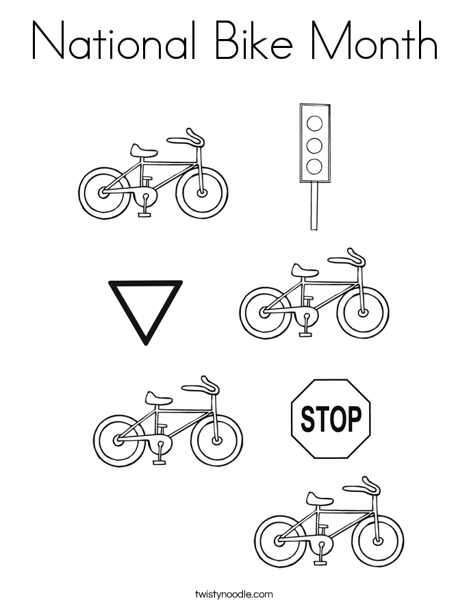 National Bike Month Coloring Page