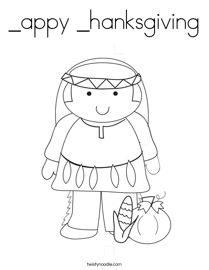 _appy _hanksgiving Coloring Page