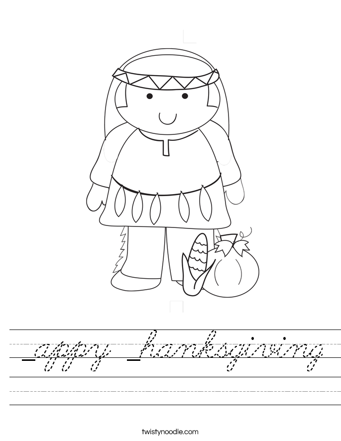 _appy _hanksgiving Worksheet