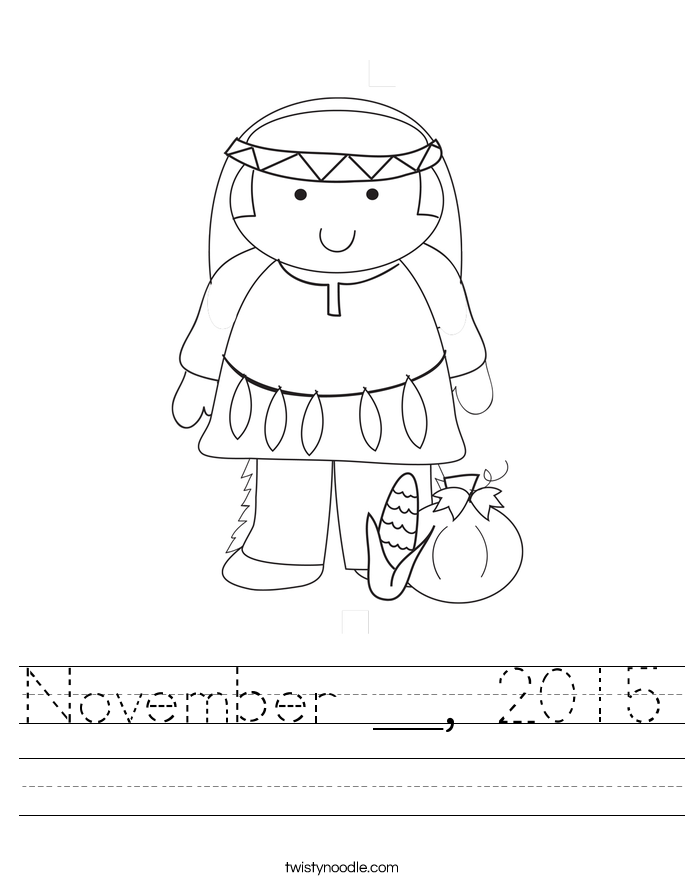 November __, 2015 Worksheet