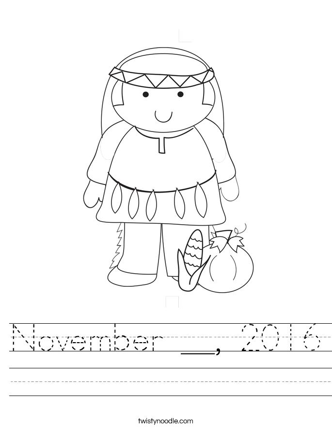 November __, 2016 Worksheet
