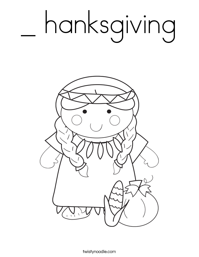 _ hanksgiving Coloring Page