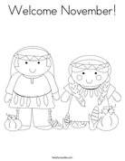 Welcome November! Coloring Page