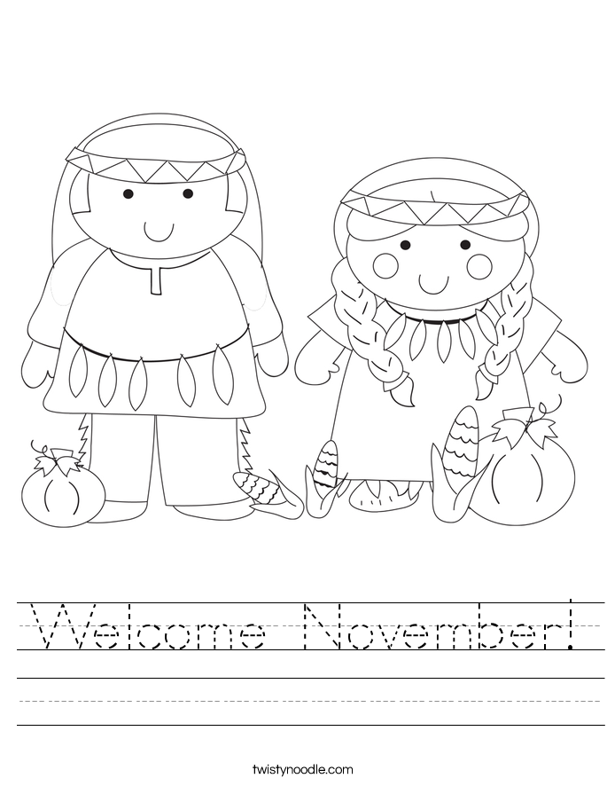 Welcome November! Worksheet