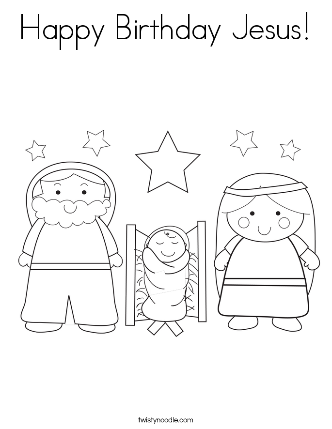 Happy Birthday Jesus! Coloring Page